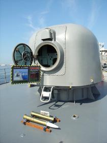 さわゆき62口径76mm速射砲(後方)