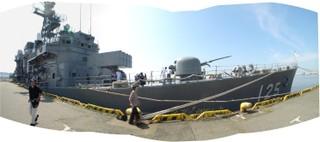 護衛艦さわゆき外観パノラマ画像