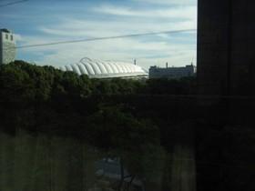 窓から見た東京ドーム