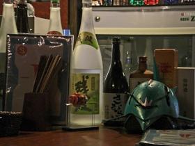 酒瓶に混じってエルメス