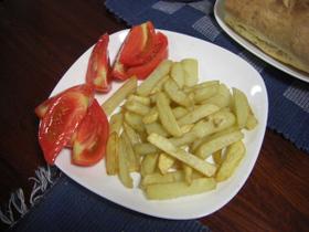 フライドポテト&トマト