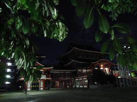 夜の大須観音