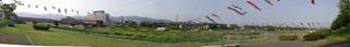 岐阜県垂井町、相川の鯉のぼりパノラマ(その2)