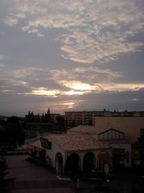 W42CAで撮影した夕陽