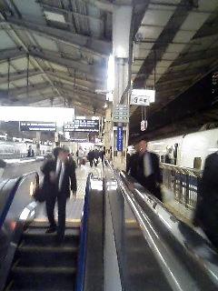 東京駅新幹線ホームにて