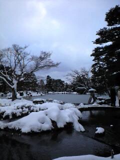 現在地:雪の兼六園