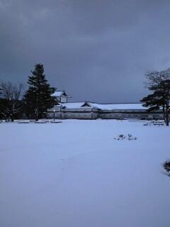 現在地:雪の金沢城