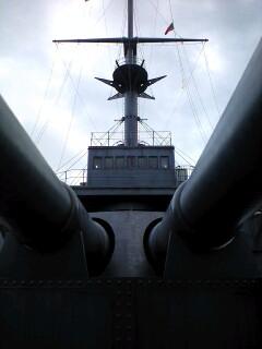 戦艦三笠乗船中